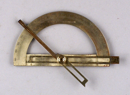 Contact goniometer with detachable limbs, J. Swift & Son, London