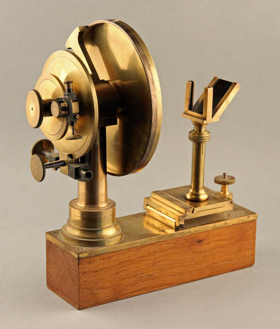 Wollaston goniometer with mirror attachment, Brunner Frères, Paris