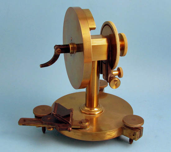 Wollaston type goniometer with mirror attachment, unsigned