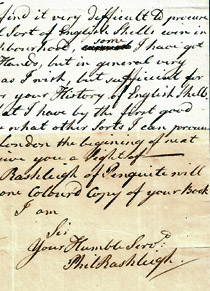 Philip Rashleigh letter, Menabilly, 4th November 1776